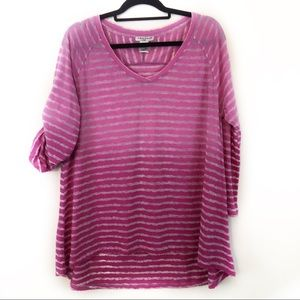Hannah Sport Striped V-Neck Long sleeves size XL